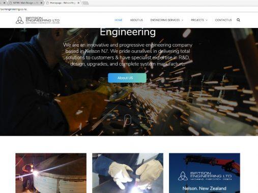 Birtson Engineering website design - Nelson