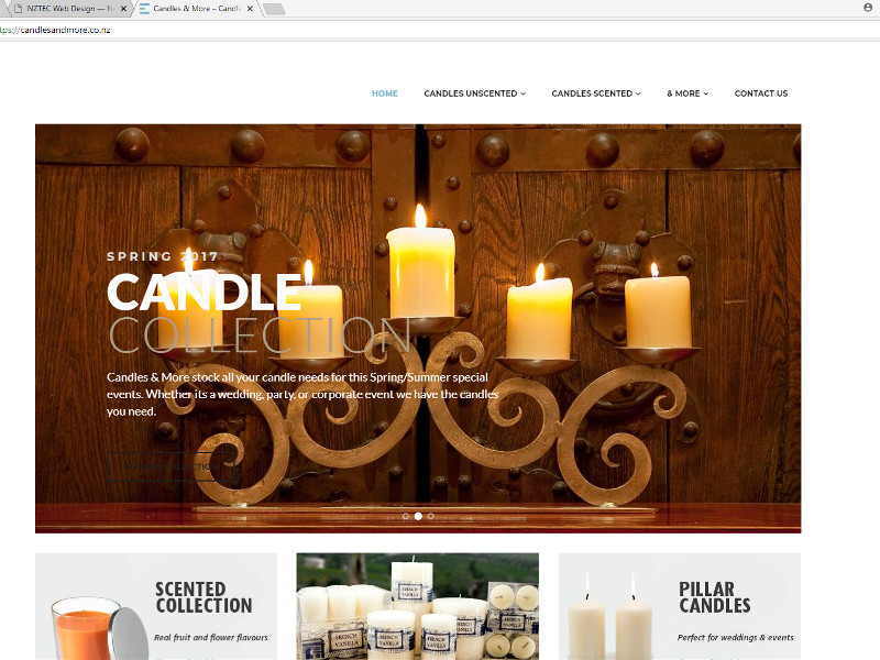 Candles and more online store - Auckland