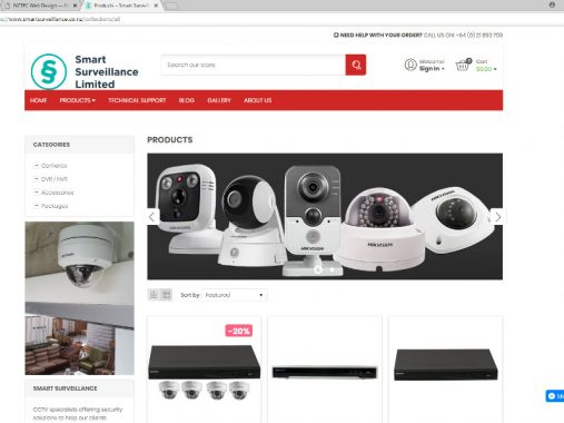 Smart Surveillance Shopify store - Auckland