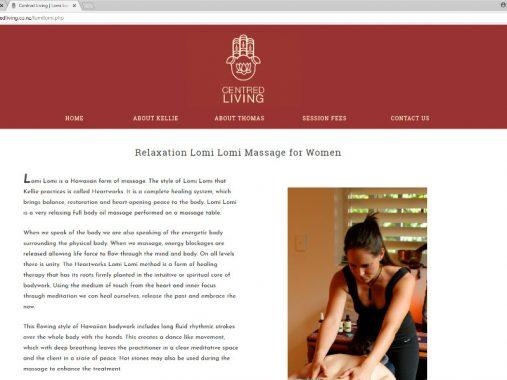 Centred Living website design - Nelson
