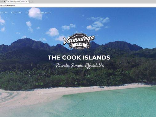 Vaimaanga Views accommodation html website design - Rarotonga