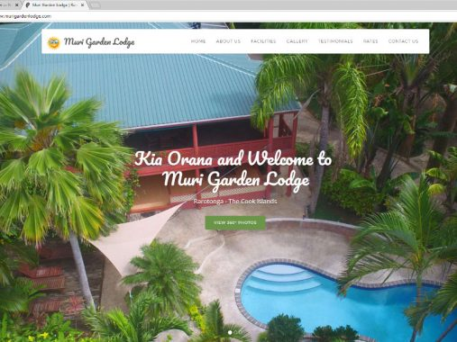 Muri Garden Lodge rarotonga html5 website design - Rarotonga