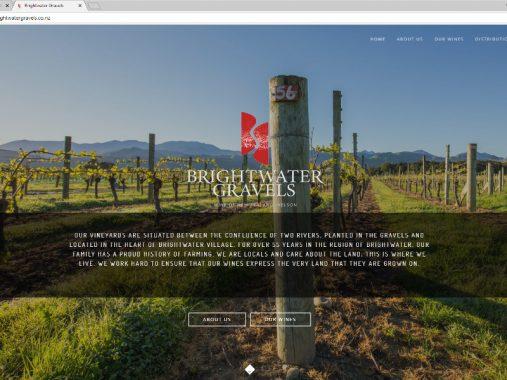 Brightwater Gravels website design - Brightwater