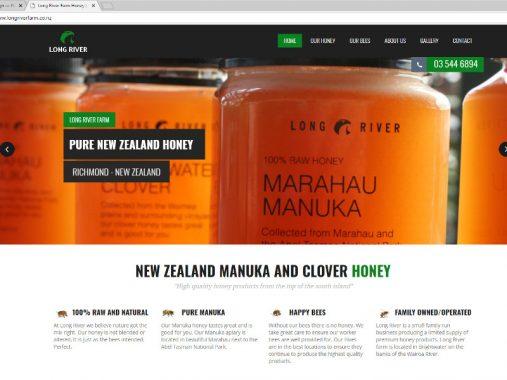 Long River Honey website design - Nelson